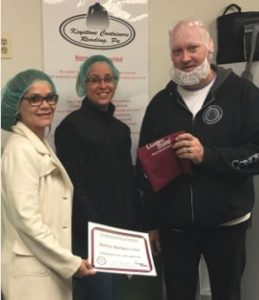 April's Champion of the Month is Maritza Rodriguez-Ortiz. Pictured with Maritza are Supervisor, Jim Chermesky and Champion Recruiter, Lucy Santiago. Congratulations to Maritza!