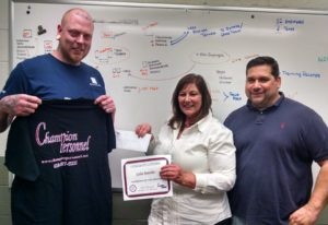 Our March Champion of the Month is Galen Kreisher, pictured with Champion Personnel Recruiter, Susan Etchberger, and from Quadrant EPP, Howie Daubenspeck