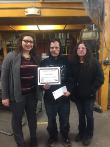 Champion of the Month, Carlos Rivera, pictured with Champion recruiter, Kristina Shrom and IMP Production Manager, Darlene Hansford.
